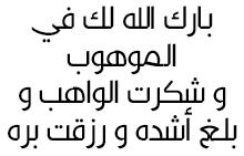 رُزق الأخ فيصل بن خالد بن عبدالله بن ســلطان الراشـــد بمولود ..